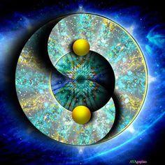 ☯~Yin y Yang~☯   ☯•ϓᎥᑎ•ϓᗋᑎ૭•☯.。.☯・゚  Brilliant colors of a #mandala.
