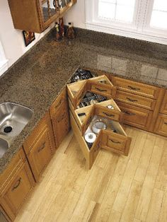 What in the world...this is the best idea for kitchen drawers possibly ever