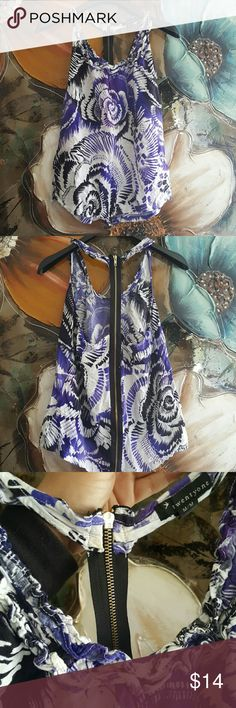*JUST IN* F21 Purple Tank Ruffles accenting scoop neckline. Black zipper along the spin. High low (back of tank is about 3in longer then front) Forever 21 Tops Tank Tops