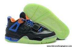 Cheap Discount Black/Orange-Royal Blue Air Jordan IV x Air Yeezy 2 Fashion Shoes Shop