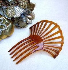 Art Deco Faux Tortoiseshell Hair Comb