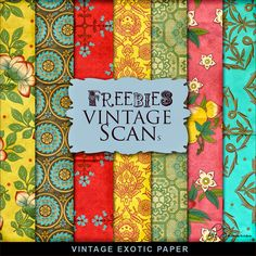 FREE New Freebies Kit of Vintage Exotic Paper.:Far Far Hill - Free database of digital illustrations and papers