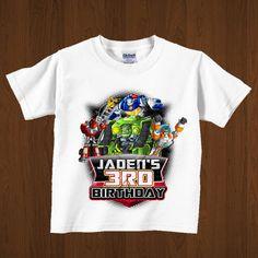 Rescatar a los Bots hierro del cumpleaños en por lovebuggydesigns