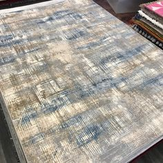 Blue Ivory, Beige, Designer Rugs, Carpet Design, Abstract Styles, Calvin Klein, Area Rugs, London, Contemporary
