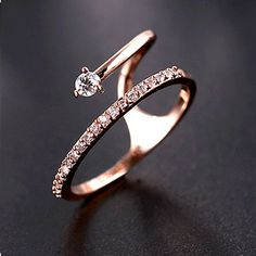 http://www.jewelsin.com/p-2015-summer-new-special-rose-gold-zirconia-cocktail-ring-11182015 Summer New Special Rose Gold Zirconia Cocktail Ring