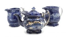 Lot: Three Historical Staffordshire Drinking Articles,, Lot Number: 0039A, Starting Bid: $100, Auctioneer: Leslie Hindman Auctioneers, Auction: Milwaukee Spring Auction, Date: March 21st, 2014 EDT