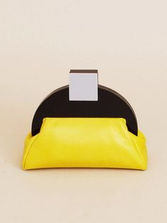 Deco Clutch Bag - Yellow | NOT JUST A LABEL