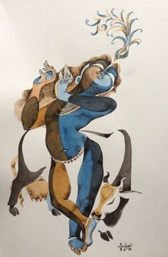 Krishna for today Pichwai Paintings, Indian Art Paintings, Krishna Painting, Krishna Art, Hare Krishna, India Painting, Oil Painting Pictures, Indian Folk Art, Art Drawings For Kids