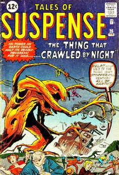 Tales of Suspense #26 - The Thing that Crawled By Night - Cover Art by Jack Kirby