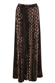Aztec Maxi Skirt: Go bohemian in this neutral tone aztec printed maxi. It's ideal for the winter-spring transition, too!