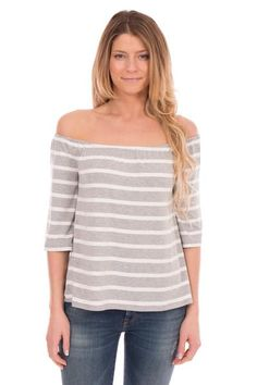 OFF THE SHOULDER STRIPED TOP #offtheshouldertop #stripes #fashion #style #springfashion #ss17