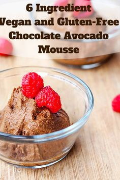 6 Ingredient #Vegan and #GlutenFree #Chocolate #Avocado Mousse might just be the best feel good guilt free #dessert ever. No baking required and ready in minutes.