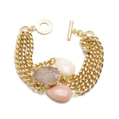 Janna Conner Designs - bracelets pretty in pastel - gold harper bracelet