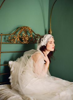 lace juliet cap veil - they are the new birdcage!