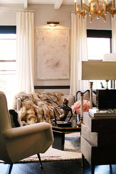 """Animal Instinct """"Animal skins constitute a big part of my design language. And sex has a lot to do with it: using hide, fur and taxidermy conveys a sense of allure, seduction, and romance--an overall feeling that I try to bring to every room I do.""""   - HarpersBAZAAR.com"""
