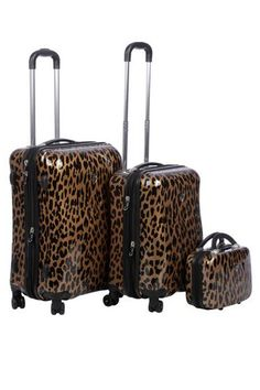Leopard Luggage! Yes please :)