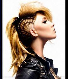 Funky braided Mohawk