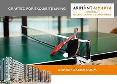 """Arihant Arshiya Studio, 1 & 2 BHK Homes, Khopoli  Indoor Games Room  http://www.asl.net.in/arihant-arshiya.html  #ArihantArshiya #RealEstate #Property #Homes #Khopoli"""