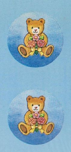 Carlton Cards teddy bear seals