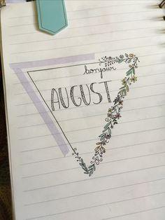 #bulletjournal #august