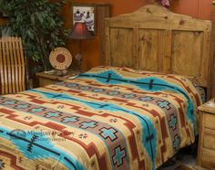 Southwestern bedspreads and western bedding sets are fabulous additions to rustic decorating.