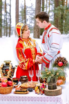 Russian wedding in traditional style Russian Style, Russian Fashion, Wladimir Putin, Russian Wedding, Love People, Anthropology, Traditional Wedding, Marriage, Weddings