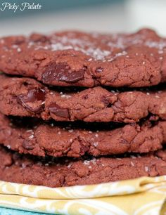 Brown Butter Salted Double Chocolate Chunk Cookies 2