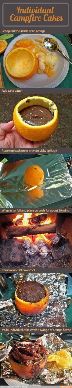 Campfire cake!