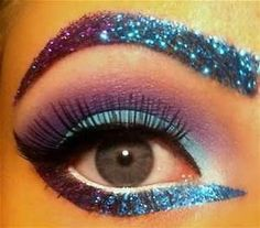 Glitter Eye shadow Blue with Fix Gel and Application Wand long lasting #Sparkles
