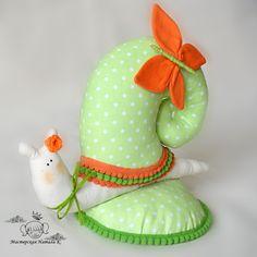 Tilda snail, decor toy, green and orange tilda snail, tilda pincushion by StudioNatalyK on Etsy