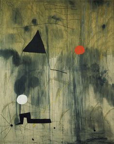 "The Birth of the World  Joan Miró (Spanish, 1893-1983)    Montroig, late summer-fall 1925. Oil on canvas, 8' 2 3/4"" x 6' 6 3/4"" #joanmiro #art"