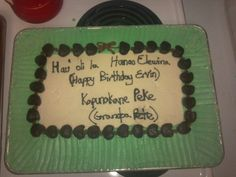 Cake for my Grandpas 90th Birthday