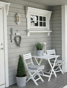 Quaint And Simple Front Porch
