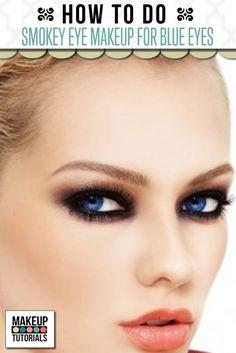 Smokey Eye Makeup Tutorial For Blue Eyes| Eye Makeup For Blue Eyes at Makeup Tutorials. | #makeuptutorials | makeuptutorials.com