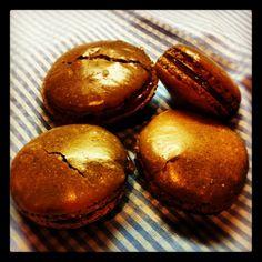 Chocolate & Dulce de Leche French Macaroons Recipe #KitchenAidMixer #GotMixer?