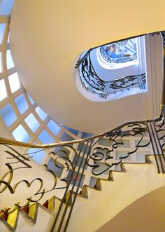 Art Deco Staircase in Casablanca - Annie Wright Photography Art Deco Hotel, Casablanca Morocco, Stairs, Doge, 1920s, Photography, Furniture, Home Decor, Architecture