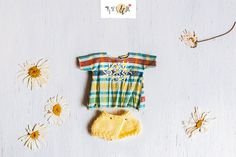 Outfit for Blythe/Licca yellow shorts.