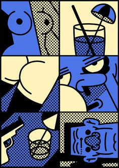 Behold the close-up comics of naughty but oh so nice illustrator Simon Landrein