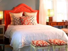 Decorating with Pantone's color of the year, Tangerine Tango.