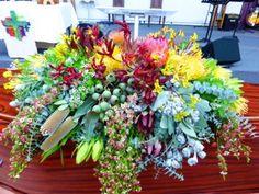 Native casket design. #sympathyflowers #floraltribute. F38 Casket Flowers, Casket Sprays, Memorial Flowers, Sympathy Flowers, Nativity, How To Memorize Things, Bloom, Floral, Plants