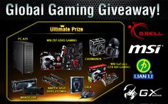 Join the Global Gaming Giveaway by G.Skill and get a chance to win one of the many gaming hardware prize packs.