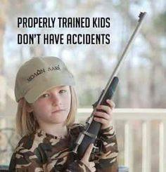 this is something i advocate to death teach your kids to respect and how to use gun if you are going to have them in the house! I knew how to properly use and handle every gun in my house by age 7 and would never play with it parents these days!