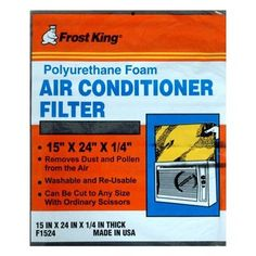 Frost King 15-in x 24-in x 0.25-in Polyurethane Foam Air Conditioner Filter