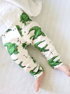 ORGANIC Cotton Knit Baby crocodile alligator by milchundhonig