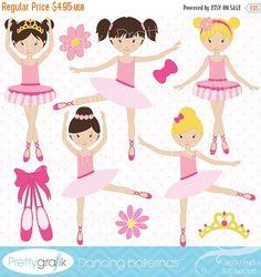 80% OFF SALE ballerina clipart commercial by Prettygrafikdesign