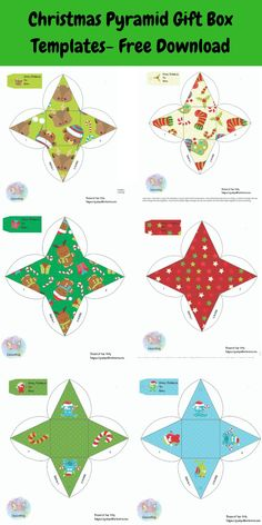 Finding fun and unusual DIY gifts can be difficult. Read more here for some fun ideas to help inspire you to create gifts for the loved ones in your life. Christmas Gift Box Template, Diy Gift Box Template, Free Christmas Printables, Christmas Templates, Party Printables, Christmas Origami, Christmas Crafts For Kids, Christmas Gifts, Cheap Christmas
