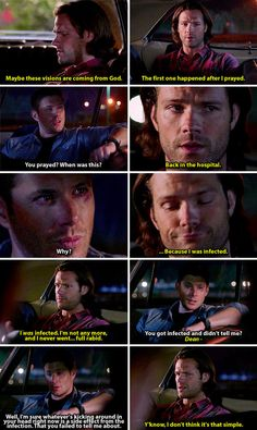 11x04 Baby [gifset] - Sam finally telling Dean about being infected - Supernatural