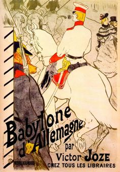 Babylon German by Victor Joze, Henri de Toulouse-Lautrec Size: 124.5x87.6 cm