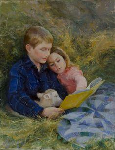 """Fairy Tale Ending"" 18x14 $1,060 ©Artist Amy Karnes Jackson Hole, Wy artist narrative figurative, oil on linen"