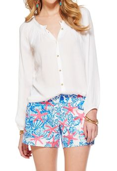 Lilly Pulitzer Maribel Wide Neck Top